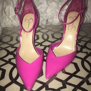 Jessica Simpson bright candy 🍭 pink strappy pumps